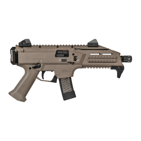 "CZ Scorpion EVO 3 S1 9MM, 7.7"" Barrel FDE Finish w/ 20 Rounds"