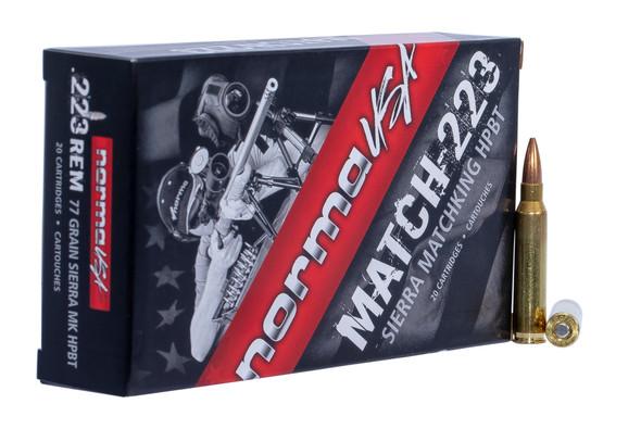 Norma Sierra Matchking 223 Rem 77GR HPBT Ammunition 20 Rounds