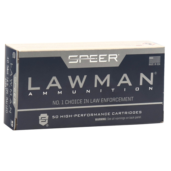 Speer Lawman 40 S&W 165GR TMJ Ammunition 50 Rounds