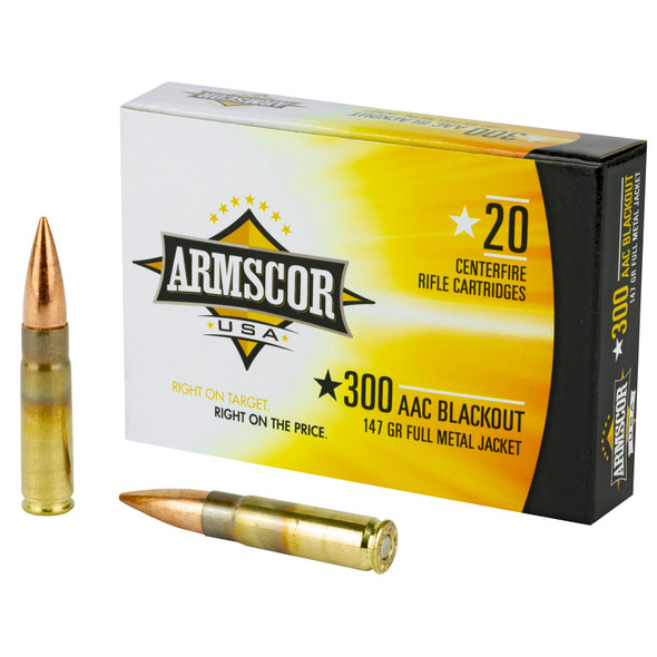 Armscor 300 Blackout 147GR FMJ Ammunition 20 Rounds