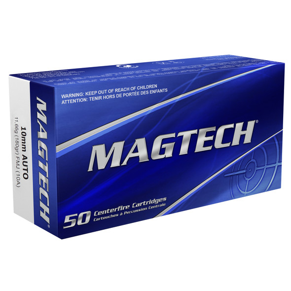 Magtech 10mm 180GR FMJ Ammunition 50 Rounds