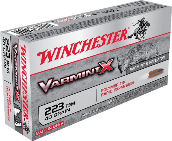 Winchester Varmint X 223 Rem 40GR Polymer Tip Rapid Expansion Ammunition 20 Rounds
