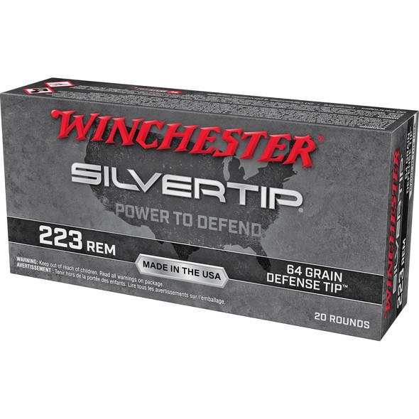 Winchester Silvertip 223 Rem 64GR Defense Tip Ammunition 20 Rounds