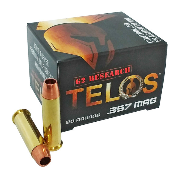 G2 Research Telos 357 Mag 105GR Solid Copper Ammunition 20 Rounds