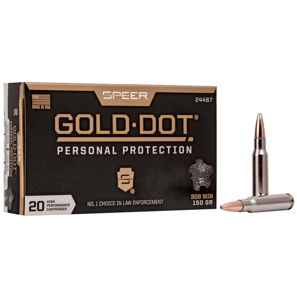 Speer Gold Dot 308 Win 150GR GDSP Ammunition 20 Rounds