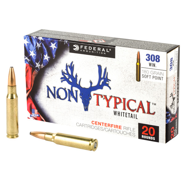 Federal 308 Win 180GR Non-Typical Soft Point Ammunition 20 Rounds