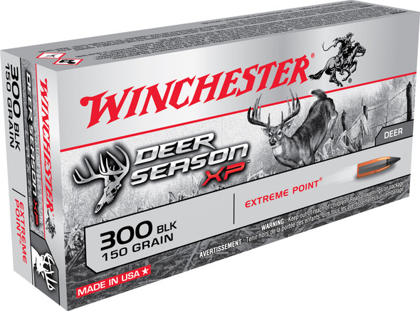 Winchester Deer Season XP 300 Blackout 150GR Extreme Point Polymer Tip Ammunition 20 Rounds