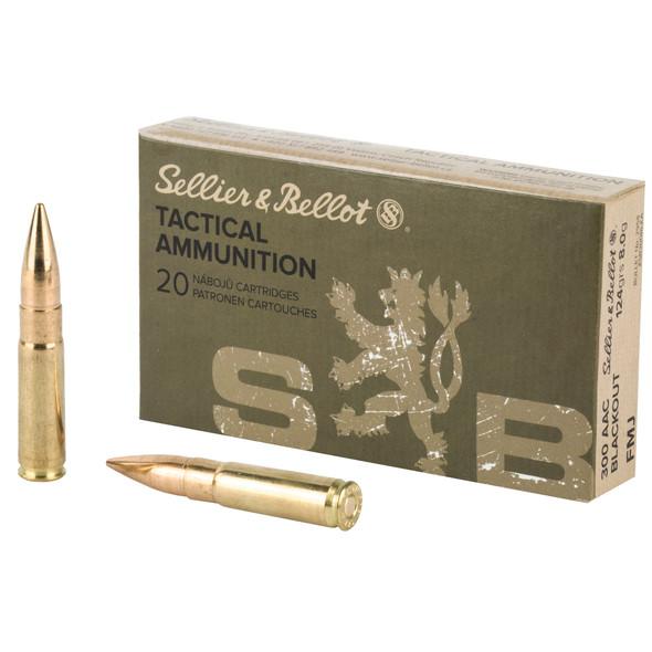 SB 300 Blackout 124GR FMJ Ammunition 20 Rounds