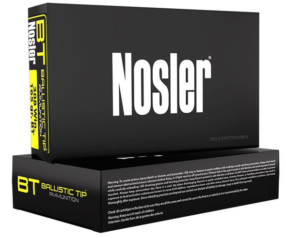 Nosler BT 243 Win 90GR Ballistic Tip Ammunition 20 Rounds