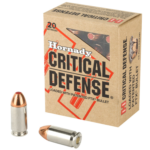 Hornady Critical Defense 45 ACP 185GR Flex Tip eXpanding Ammunition 20 Rounds