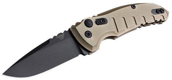 "Hogue A01-MicroSwitch Automatic Folder 2.75"" Drop Point Blade"