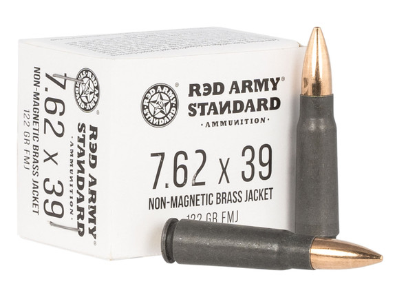 Century Arms Red Army Standard 7.62x39mm 122GR FMJ Ammunition 20 Rounds