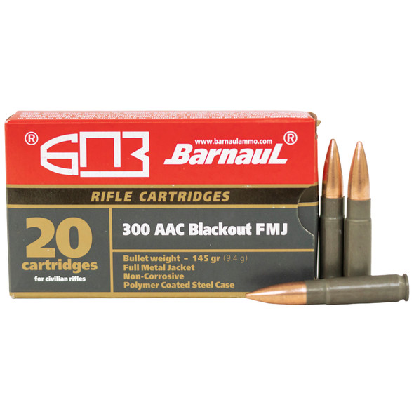 Barnaul 300 Blackout 145GR FMJ Ammunition 20 Rounds
