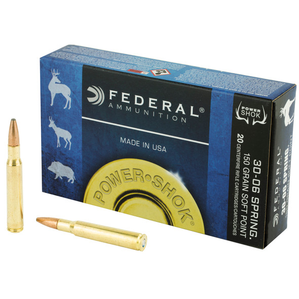 Federal Power-Shok 30-06 Springfield 150GR SP Ammunition 20 Rounds