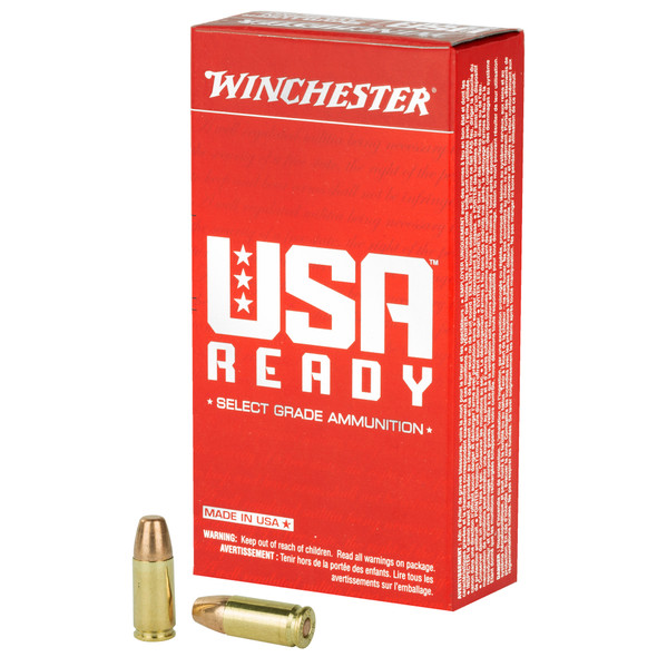 Winchester USA Ready 9mm 115GR FMJ Ammunition 50 Rounds