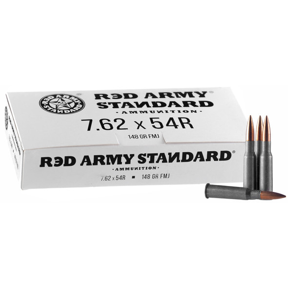 Century Arms Red Army Standard 7.62x54R 148GR FMJ Ammunition 20 Rounds