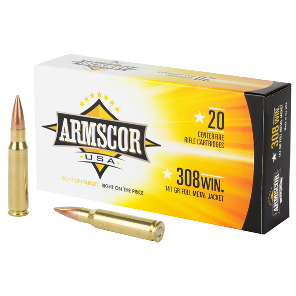 Armscor 308 Win 147GR FMJ Ammunition 20 Rounds