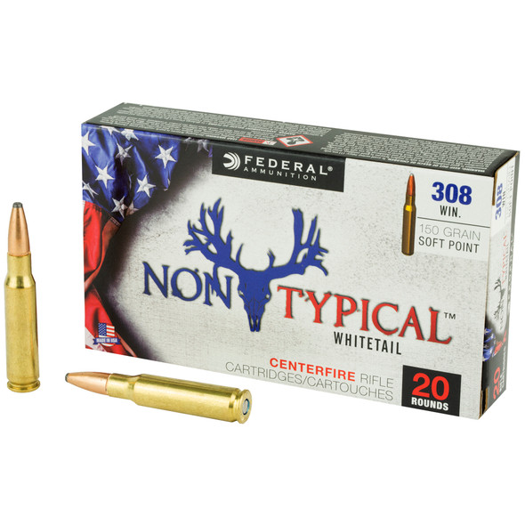 Federal Non-Typical Whitetail 308 Win 150GR Soft Point Ammunition 20 Rounds