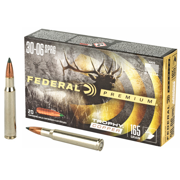 Federal Premium 30-06 Springfield 165GR Trophy Copper Ammunition 20 Rounds