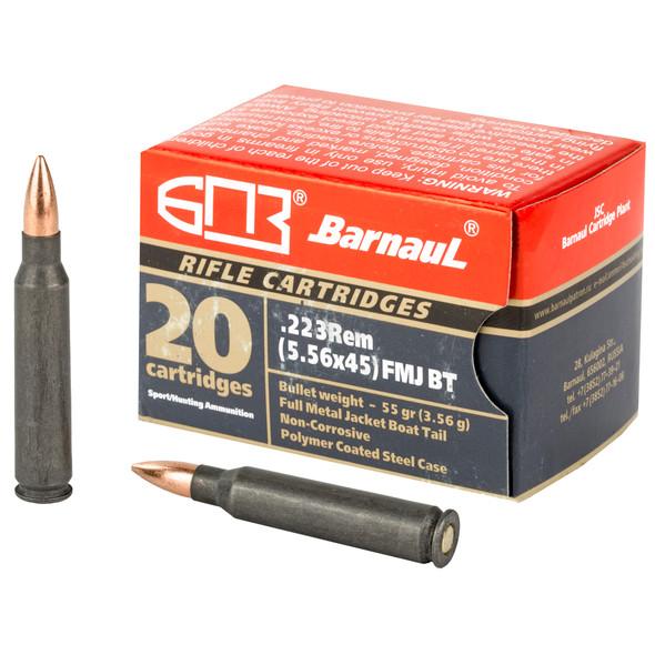 Barnaul 223 Rem 55GR FMJBT Ammunition 20 Rounds