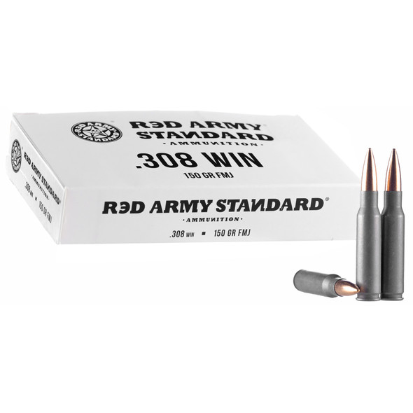 Century Arms Red Army Std .308 150GR FMJ Ammunition 20 Rounds