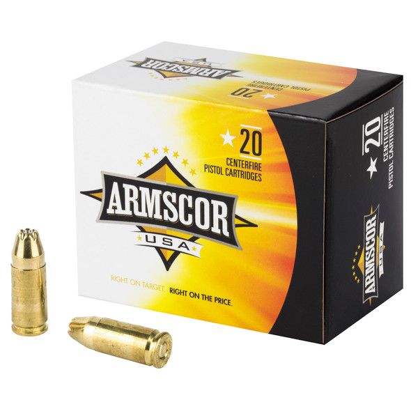 Armscor 9mm 124GR JHP Ammunition 20 Rounds