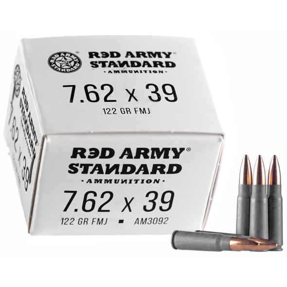 Century Arms Red Army Standard 7.62mm 122GR FMJ Ammunition 20 Rounds