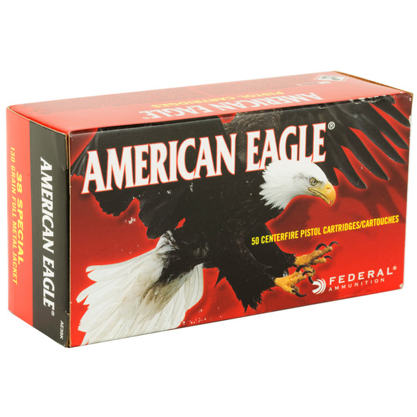 Federal American Eagle 38 Special 130GR FMJ Ammunition 50 Rounds