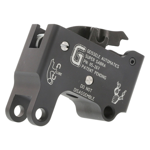 The Geissele Super Sabra was born from the combat heritage of the SSA and is a drop in replacement for the OEM trigger pack. It is a precision two-stage trigger and allows precise and accurate trigger control. The Super Sabra's two-stage design allows the trigger to be light enough for accurate and precise shots, but forgiving enough for close quarter combat (CQB). The Geissele Super Sabra also features an adjustable first stage, which will allow the shooter the ability to fine tune the first and second stage weight distribution, without compromising the total pull weight. The Geissele Super Sabra's housing is precision CNC machined from 6061-T6 Aluminum and type 3 hardcoat anodized for a long lasting and durable finish. The Super Sabra internal components are constructed of shock and wear resistant S7 tool steel. A nitride process finish on the internal components allows further abrasion and chemical resistance.