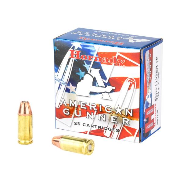 Hornady American Gunner 9mm 124GR XTP Ammunition 25 Rounds