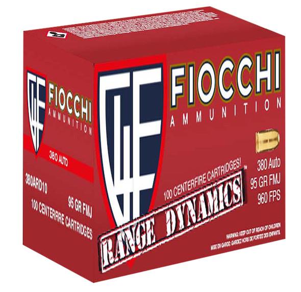 Fiocchi Range Dynamics 380ACP 95gr FMJ Ammunition 200rds