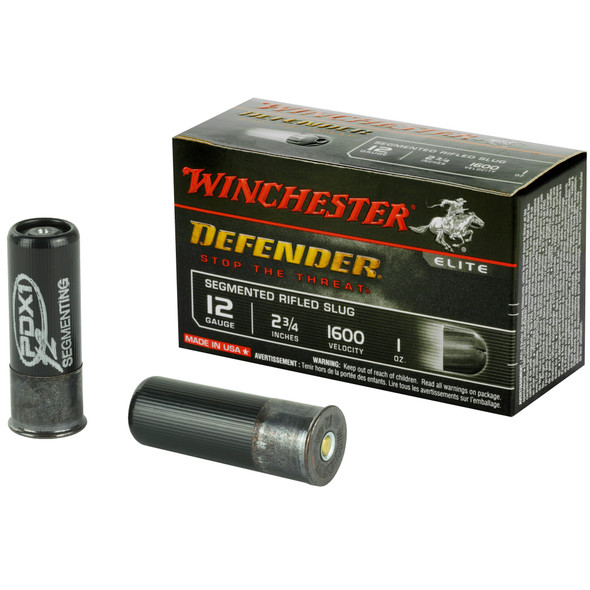 "Winchester Defender 12GA 2.75"" 1oz Segmented Slugs Ammunition 10 Rounds"
