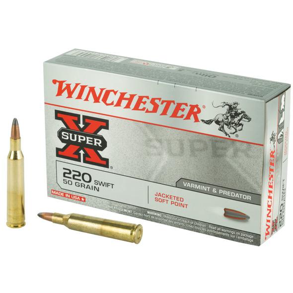 Winchester Super-X 220 Swift 50GR JSP Ammunition 20 Rounds