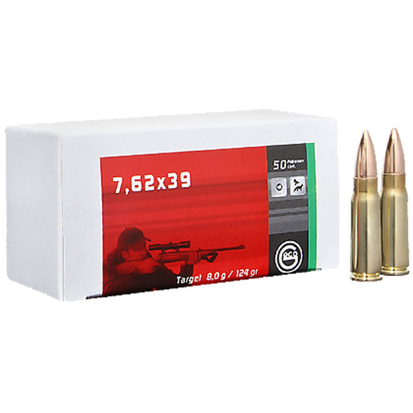 Geco 7.62x39mm 124GR FMJ Ammunition 50 Rounds