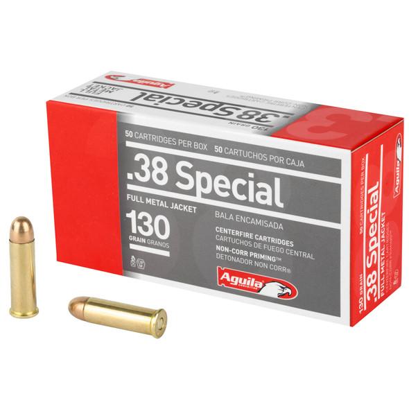 Aguila 38 Special 130gr FMJ Ammunition 50rds