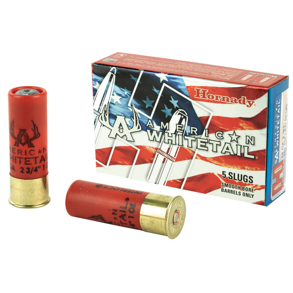 """Hornady American 12GA 2.75"""" 1oz Rifled Slug Ammunition 5rds"""