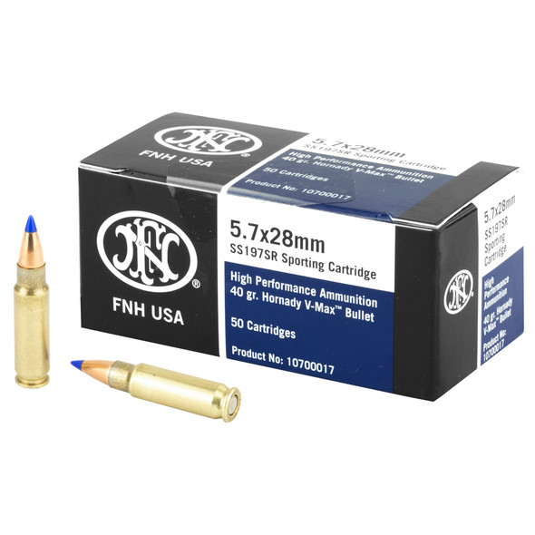 FN 5.7x28mm 40gr V-MAX Blue Tip Ammunition 50rds