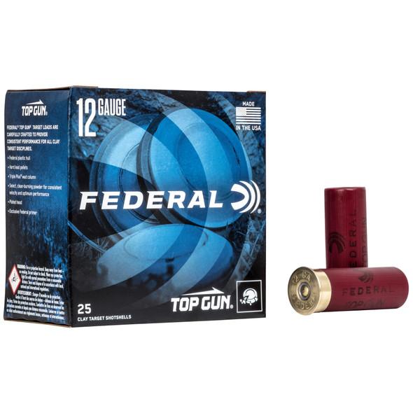 """Federal Top Gun 12GA 2.75"""" 1-1/8 oz 8 Shot Ammunition 25 Rounds"""