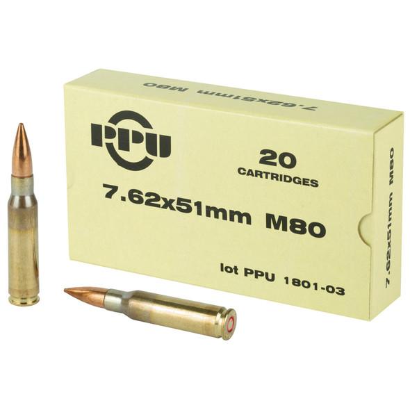 PPU 7.62mm 145gr FMJBT Ammunition 20rds