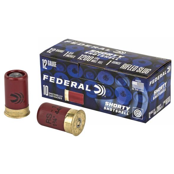 """Federal Shorty Shotshell 12GA 1.75"""" 1oz Rifled Slug Ammunition 10rds"""