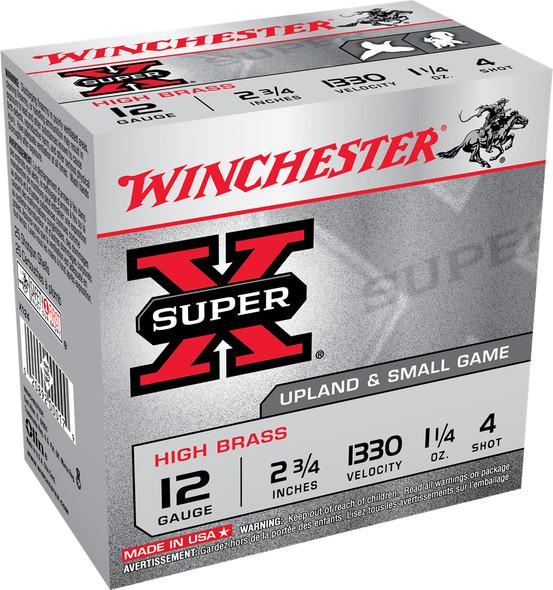 """Winchester Super-X High Brass 12GA 2.75"""" 1-1/4 oz 8 Shot Ammunition 25rds"""