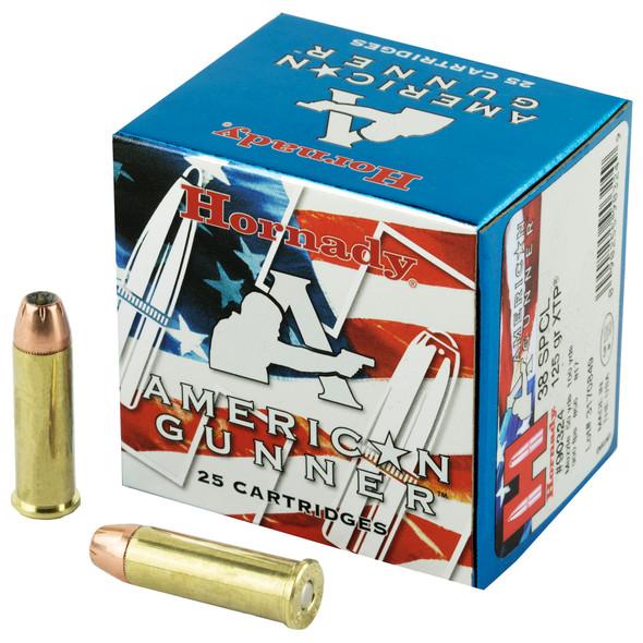 Hornady American Gunner 38SPL 125gr XTPHP Ammunition 25rds