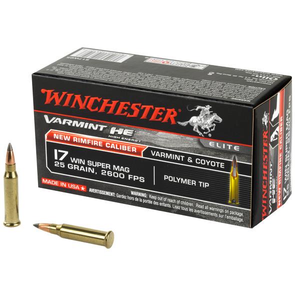 Winchester Varmint HE 17 WSM 25gr Polymer Tip Ammunition 50rds