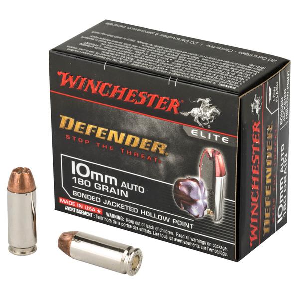 Winchester Defender 10mm 180gr Bonded JHP Ammunition 20rds