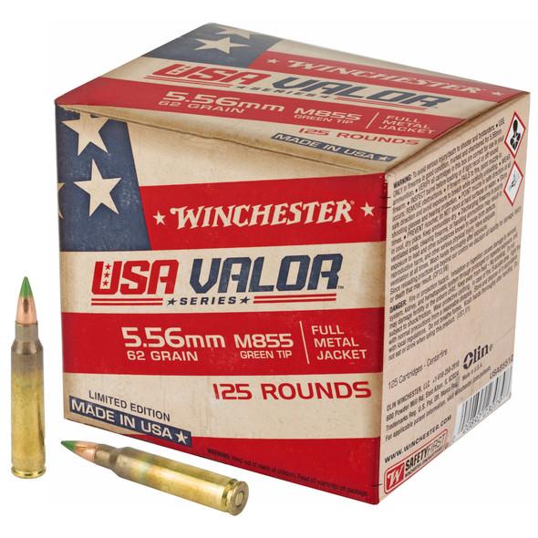 Winchester 5.56mm 62gr FMJ Green Tip Ammunition 125rds