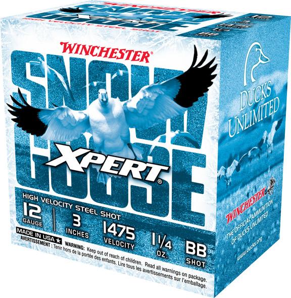 """Winchester Xpert Snow Goose 12GA 3"""" 1-1/4 oz BB Shot Ammunition 25rds"""