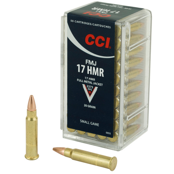 CCI 17 HMR 20Ggr FMJ Ammunition 50rds