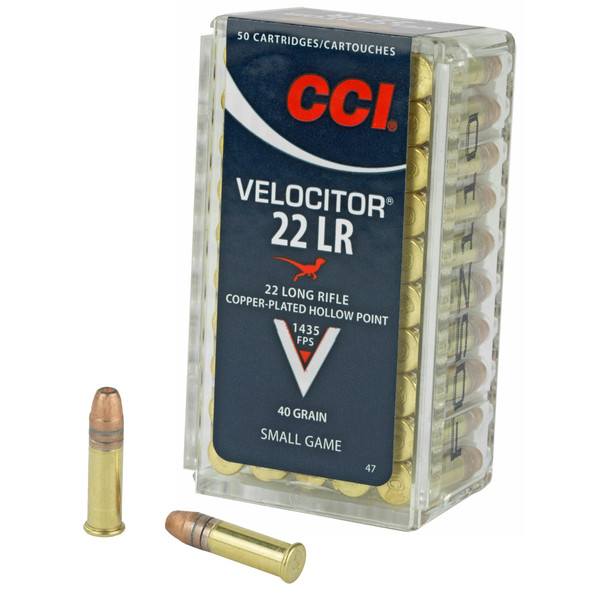 CCI Velocitor 22 LR 40gr CPHP Ammunition 50rds