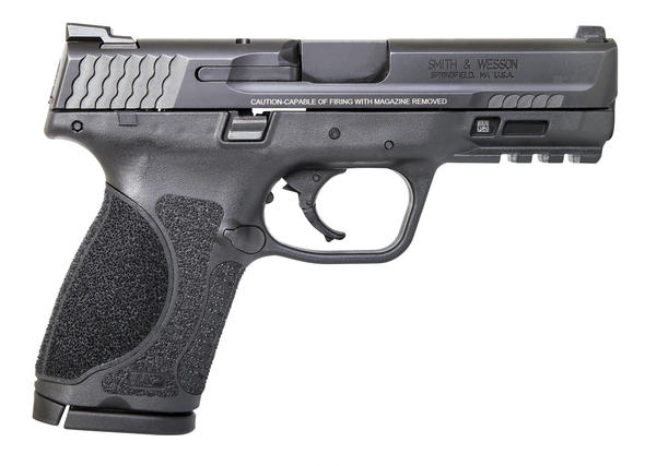 """Smith & Wesson 12098 M&P M2.0 Compact 40 S&W 4"""" 13+1 Black Black Armornite Stainless Steel Slide Black Interchangeable Backstrap Grip"""