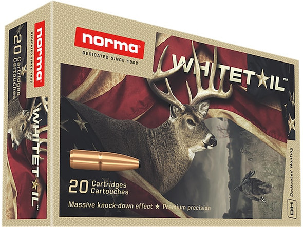 Norma Whitetail 308 Winchester 150GR Pointed Soft Point Ammunition 20 Rounds